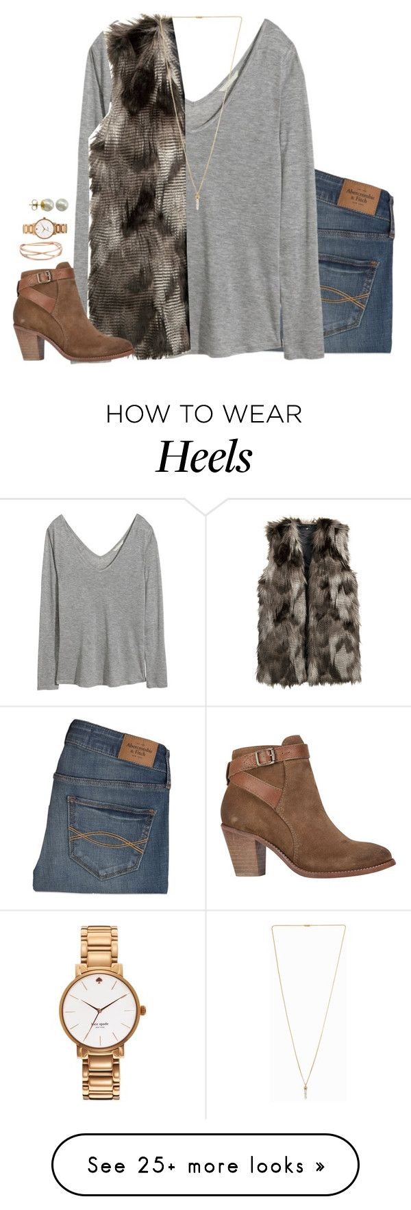 """""""if you want to stay updated read d"""" by kaley-ii on Polyvore featuring Abercrombie & Fitch, H&M, Pilgrim, H by Hudson, Alexis Bittar, Kate Spade and Majorica"""