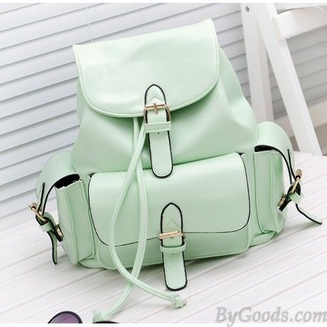 Casual College Style Mint Green Backpack|Fashion Backpacks - Fashion Bags|ByGoods.com