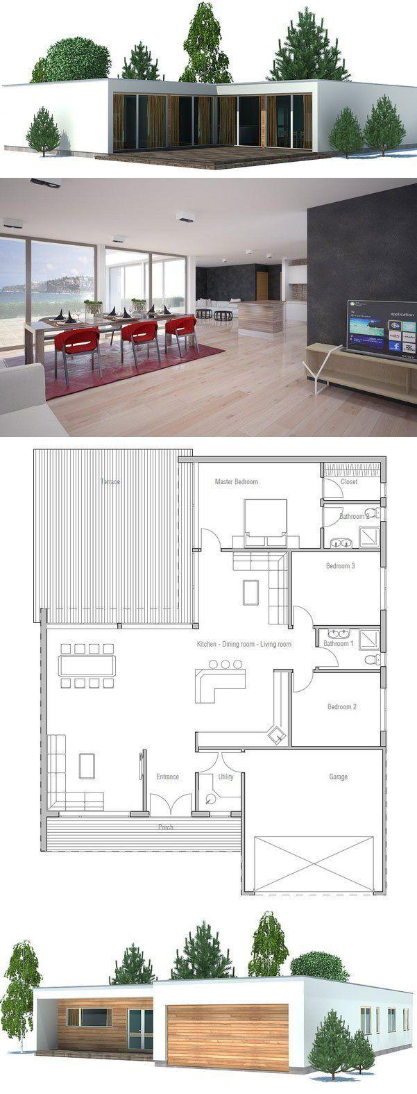 Grundrisse wohnen strandhaus pläne modernes haus pläne kleines haus pläne moderne häuser kleine häuser einfache grundrisse doppelgarage