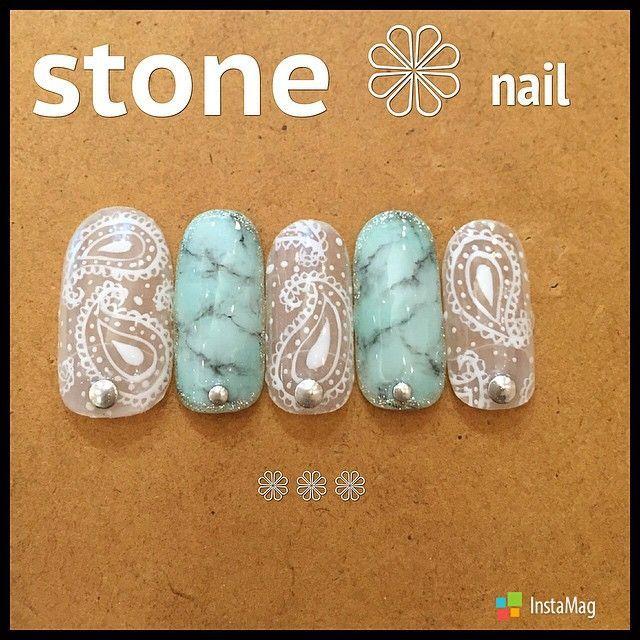 nice ツヤキラ天然石ネイル。いつもよりちょっとリッチにオトナっぽく。 MERY
