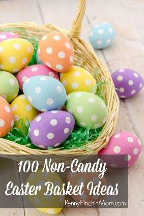Here are 100 Non-Candy Easter Basket Ideas broken down by age groups! Whether you are shopping for a newborn a teen or even an adult - you'll find exactly what you need here - without the added sugar!