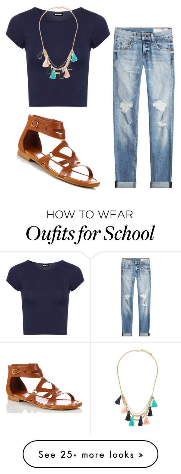 """""""School outfit"""" by savannahlrainey on Polyvore featuring rag & bone, WearAll and Forever 21"""