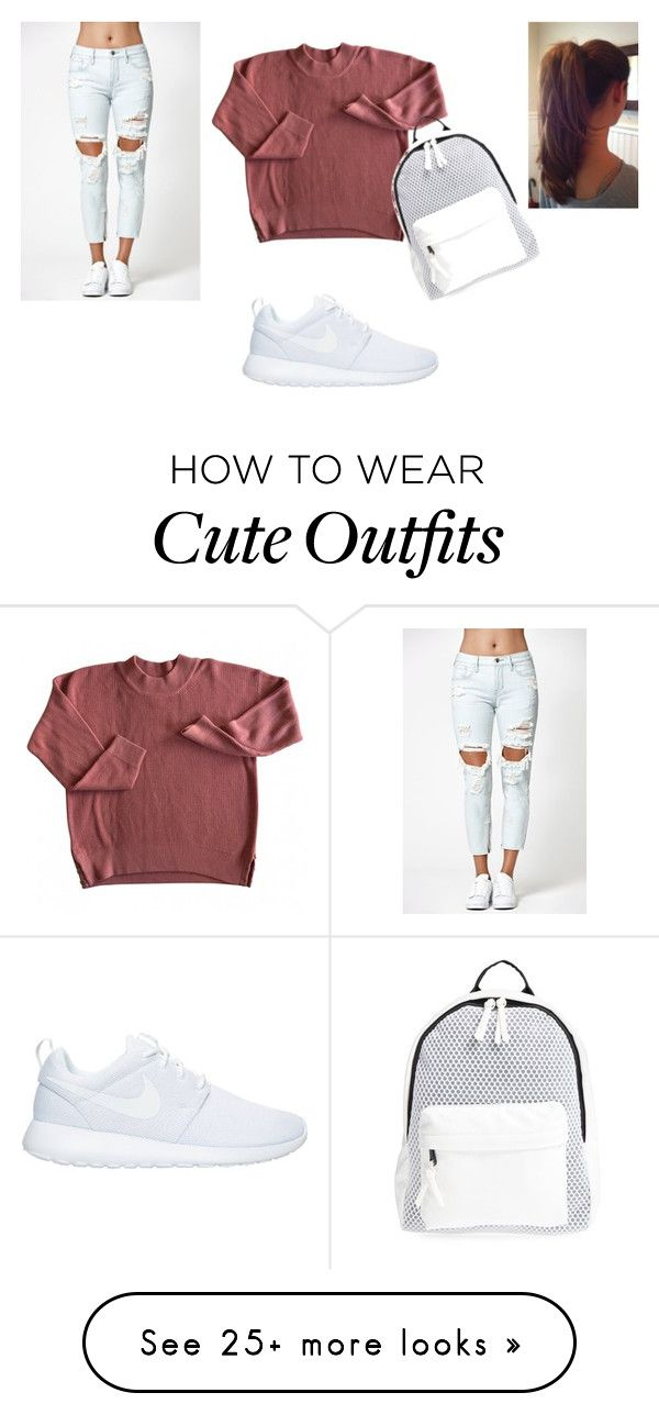 """back to school outfit"" by missdevilxx on Polyvore featuring Kendall + Kylie, NIKE and Poverty Flats"