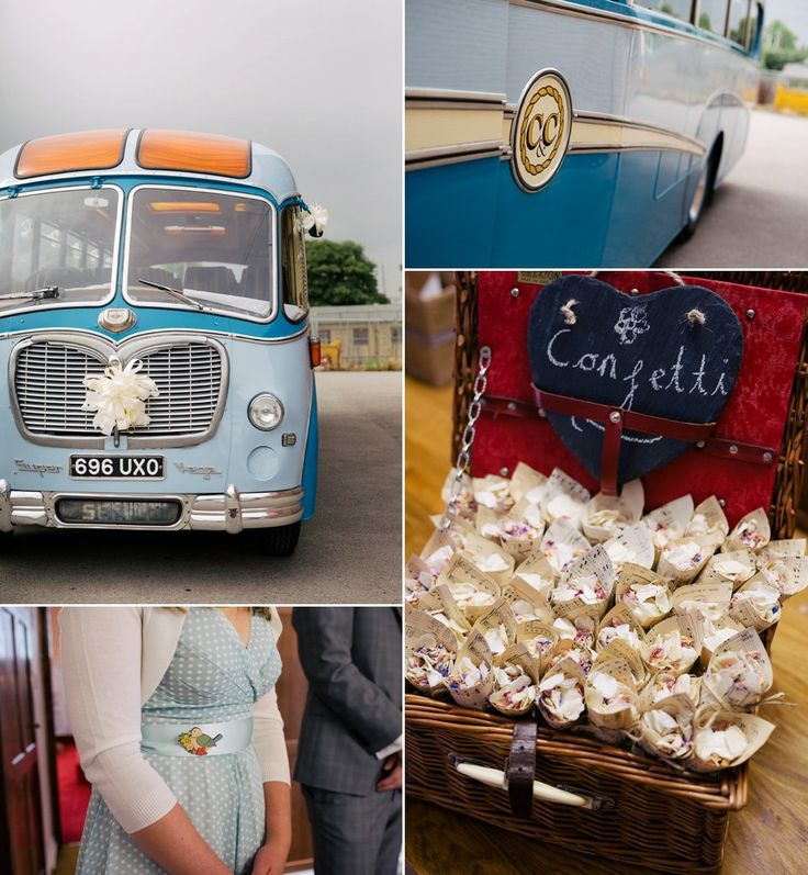 Decor and detail for a 50s inspired rustic wedding. Photography by http://www.stottandatkinson.com