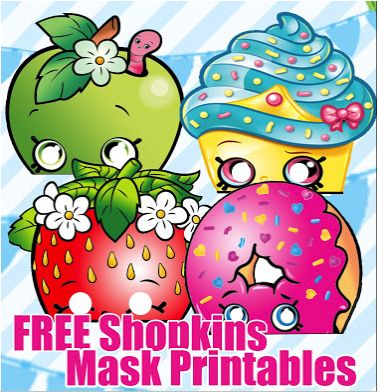 FREE Shopkins Masks Birthday Party Printable Files