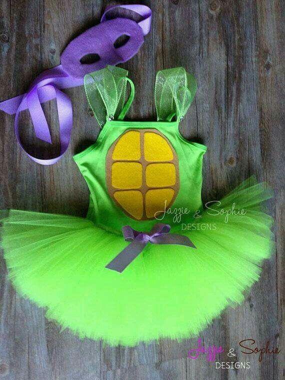 Teenage Mutant Ninja Turtle Tutu Dress - Newborn 3 6 9 12 18 24 Months 3T 4 T 5…