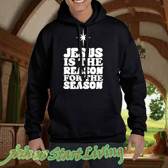 Hoodie for men and women size S3XL with jesus is by Starttliving