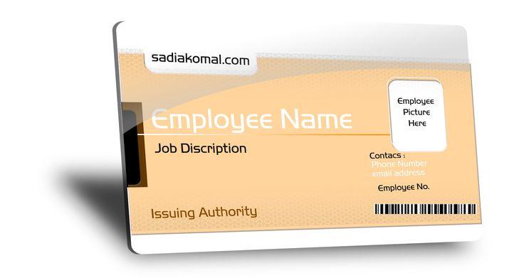 Free Job Card PSD http://latestbusinesscards.com/fully-customizable-employee-id-card