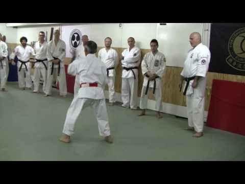 JOSHINKAN ISSHINRYU KARATE KOBUDO ASSOCIATION 4/4 - Training The Kata - YouTube