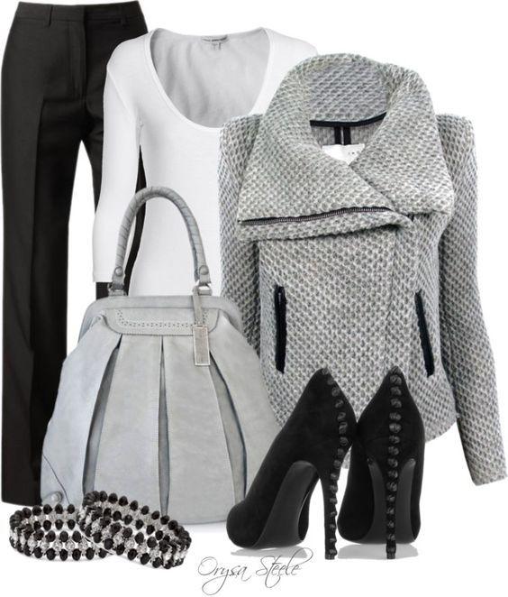 Vestito in bianco puro e grigio argento (numeri di passaggio colore 1 e 2) Kerstin Tomancok / …