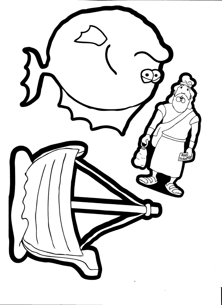 bible coloring pages jonah - photo#34