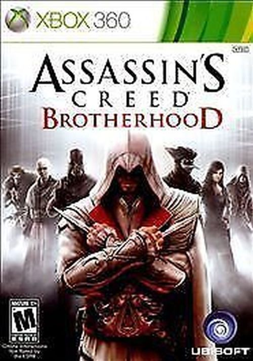 Title: Assassin's Creed: Brotherhood (Microsoft Xbox 360, 2010) UPC: 008888526254 Condition: Pre-owned. Item tested. Complete - Included: Video Game Disc, Original Case, Original Case Artwork, and Man