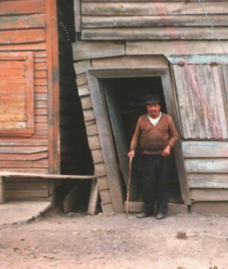 Galería Histórica de Carahue. Gente de Carahue: Don Juan Arango, villano y comerciante. Villa Estación. Década del '80. #ghc #carahue #memoria #patrimoniofotografico