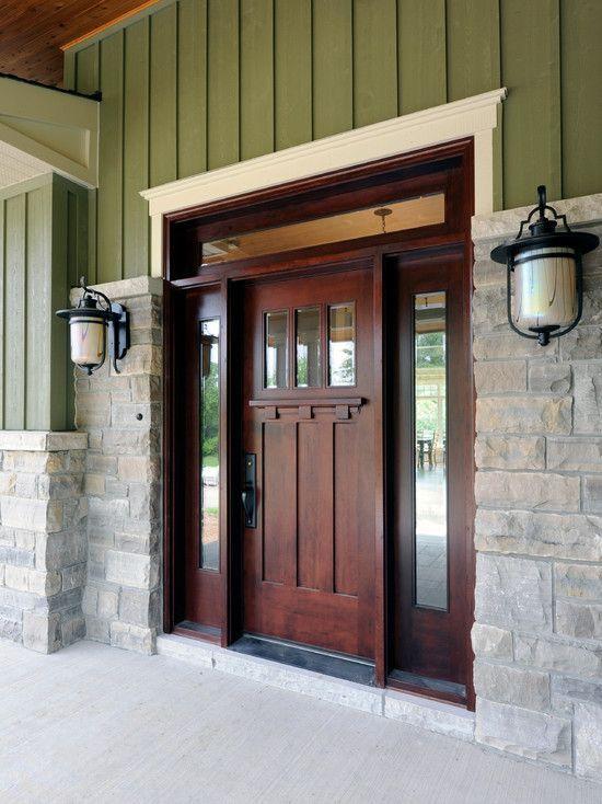 Front door of my Morton building home. Love!