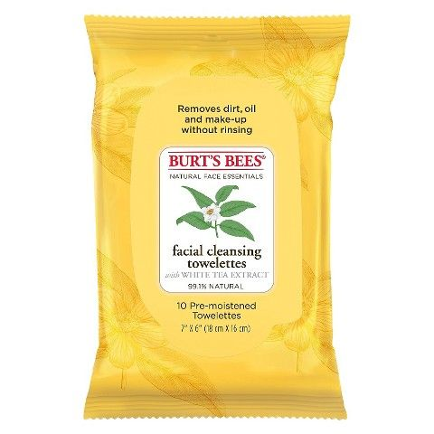 Burt's Bees 10 Ct Wipe Exfoliating Facial Cleansing Wipes $2.00