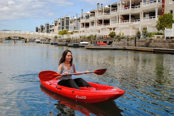 Kayak hire in Knysna from the travel package at the Turbine Boutique Hotel and Spa, Thesen Islands #travel #hotel #luxury #turbine #spa #kayak #ThesenIslands #Knysna #SouthAfrica #CheapTravel
