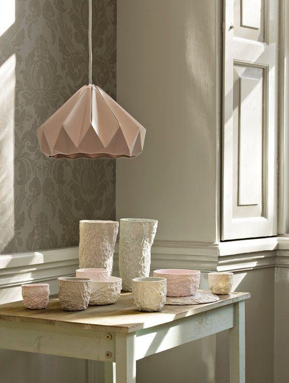 Paper origami lamp