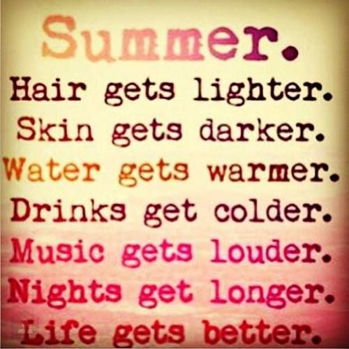 Summer drinks - music - nights - life ...