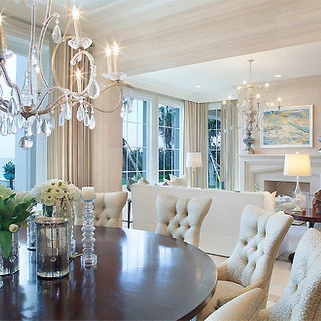 Beautiful And Elegant Open Concept Room Chandeliers Are The Center Of Attention Of Each Room They Are Statement Decor That Separate House Areas