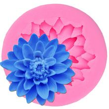M091 Lotus Tvar čokoládové cukríky Jello 3D Silicone Mold Cartoon Figre / tortu Tools Soap Mold Sugar Craft Cake Decoration (Čína (pevninská časť))