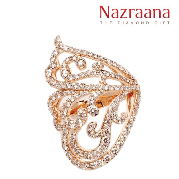 Diamond rings are always steeped in tradition and this aesthetic ring is no exception. Like many other luxurious jewellery, this resplendent #ring has all the traditional values and aspects and the perfect gifting option for your mother who has always been yearning for something similar. She will feel important and loved – see how she glows like the #diamonds after wearing this ring.   http://www.nazraanajewellery.com/Indulgence/Aesthetic-Diamond-Ring-NZCR01072