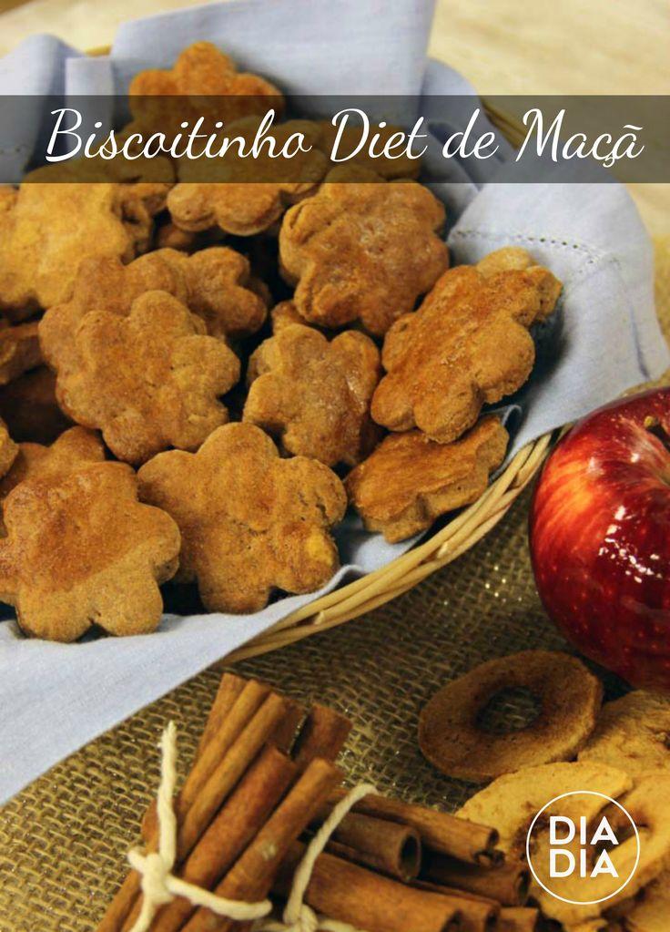 Aprenda a fazer receita deliciosa e saudável de Biscoitinho Diet de Maçã. Biscoito de maçã, saiba como fazer.
