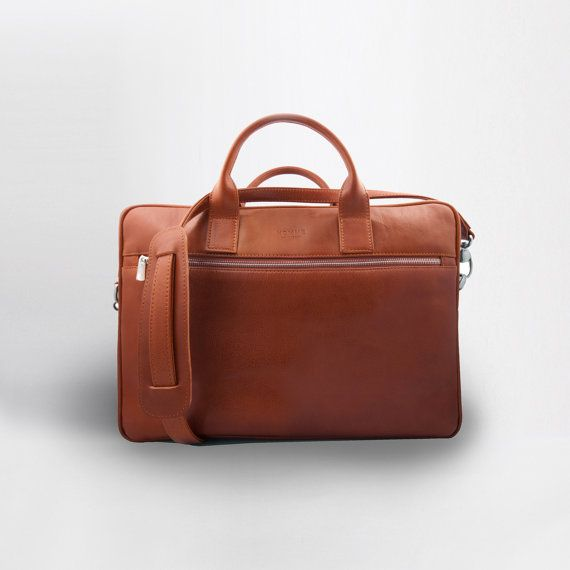 Coach briefcase, Leather briefcase, Leather Laptop or Office Bag, Mens bag on Etsy, $386.71
