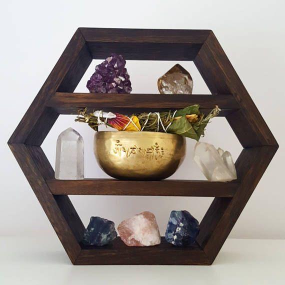 Hexagon Shelf for Crystals