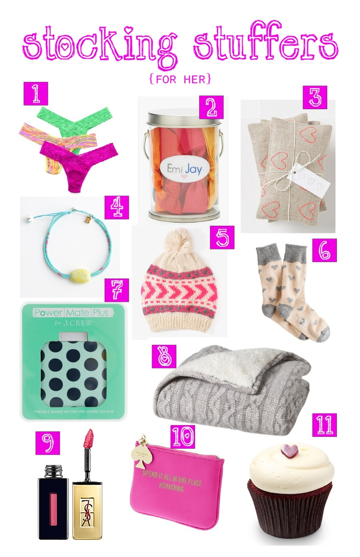 17 Best Ideas About Stocking Stuffers For Her On Pinterest