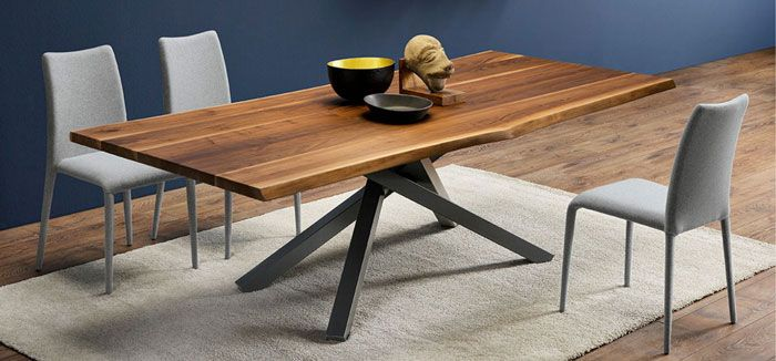 Midj Pechino Table 98 X 42 Sand Steel Glossy Sand Dining Table