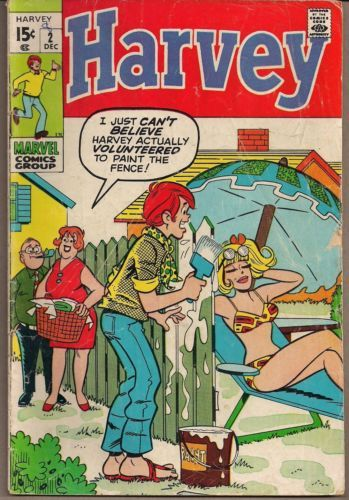 HARVEY #2 MARVEL 12/70 MOD FASHION ARCHIE STYLE TEEN HUMOR STAN GOLDBERG ART VG