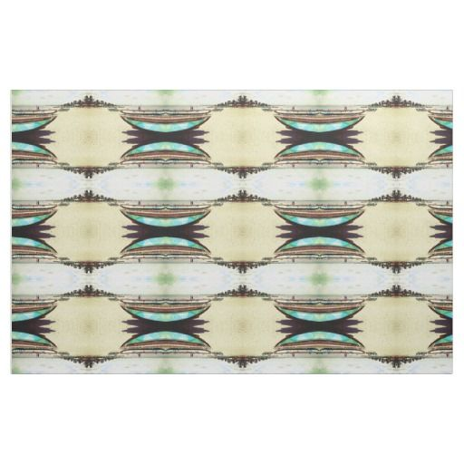 Boats on Tropical Beach Pattern Fabric / Select from 7 fabric types! #fomadesign