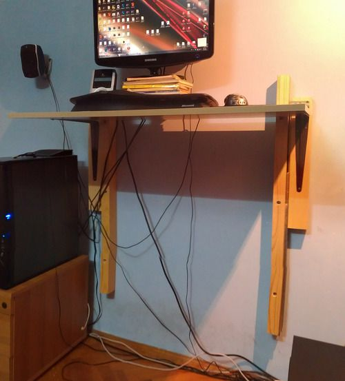Cheap Diy Sit Stand Desk Crafty Tips Pinterest Desks