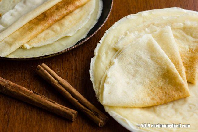 Cómo hacer crêpes. Receta   cocinamuyfacil.com