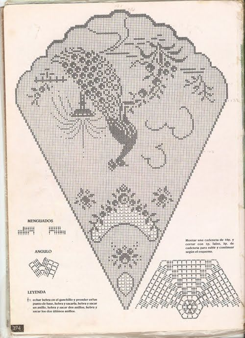 Free filet crochet pattern. Crochet tablecloth patterns free | Все ...