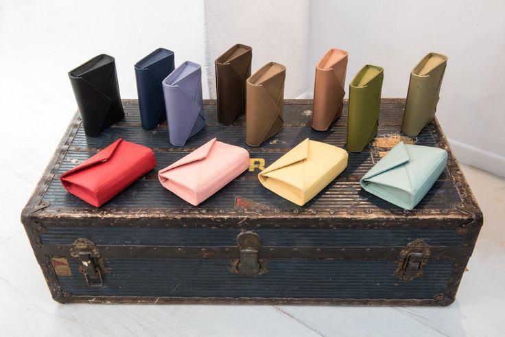Rien's mini #leahter envelops in different #colors