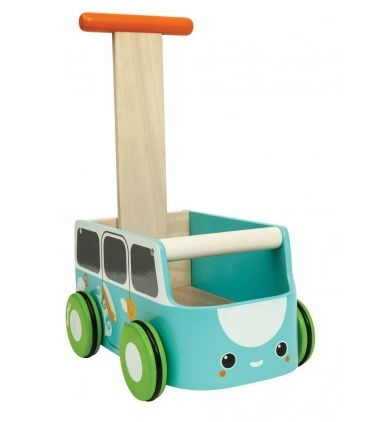 Van Walker - Blue ~  This gorgeous blue camper van baby walker is perfect for helping your toddler cruise around the house and garden.  Made of wood, it is also perfect for storing toys.  Suitable for age 10 months+  £59.99
