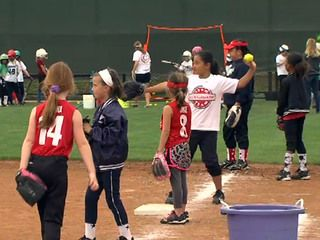 More than 150 girls took to the softball field at Cathedral Catholic High School on Sunday for a good cause. A longtime friend of the Cunningham family organized a softball clinic which doubled as fundraiser to help the family pay its mounting hospital bills. The girls on the Cathedral Catholic softball field were honing their skills and learning how to better play a game they all love, but what was happening Sunday was about much more than sports education.