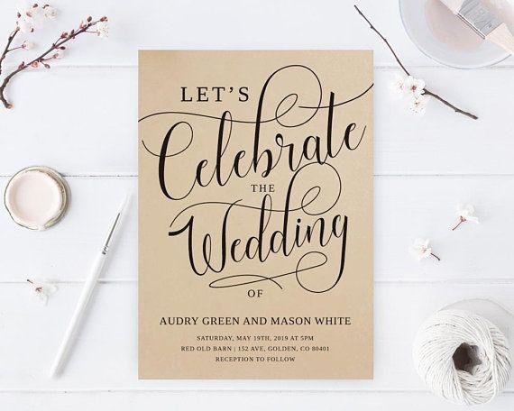 let s celebrate invitations kraft wedding invitations modern