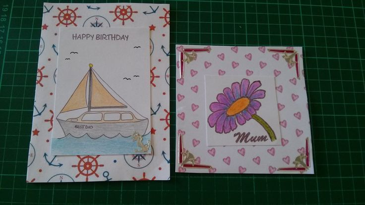 Elfie made these using stamps she had designed for Downland Crafts.