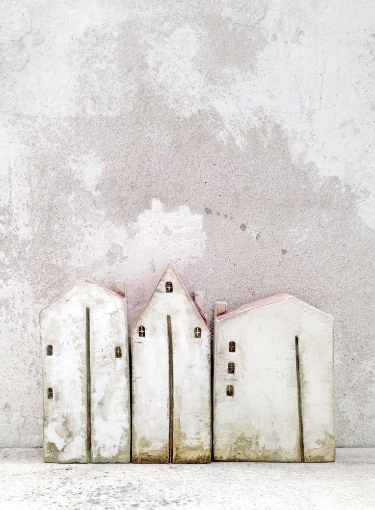 Einfache Dekoration Und Mobel Raumideen Duren #26: Ceramic Houses Christmas Gift Clayhouse Handmade By VesnaGusmanArt