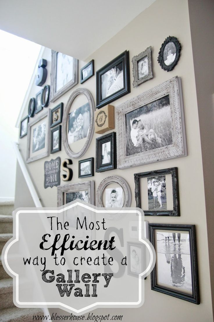 The Most Efficient Way to Create a Gallery Wall - Bless'er House - These tips make it so easy!