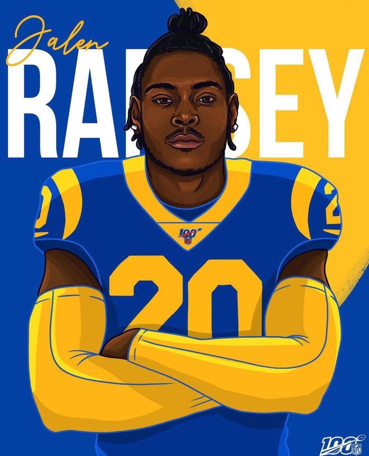 Jalen Ramsey the new LA Ram Nfl football art, Nfl
