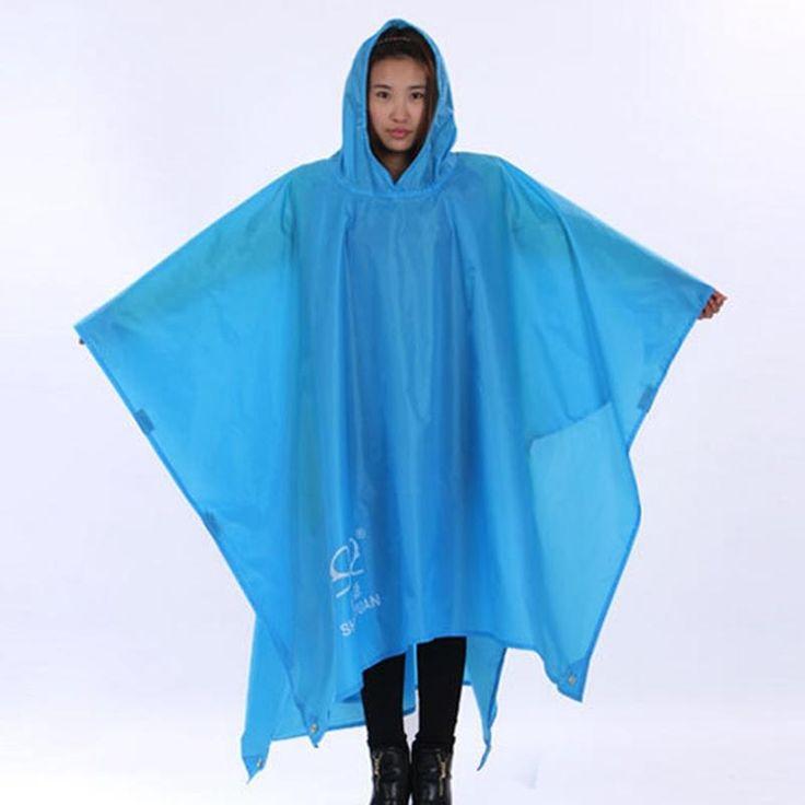 Ponchos - 3 In 1 Raincoat Rain Poncho Backpack Rain Cover Waterproof Tent Awning Climbing Camping - Bargain Bait Box Fishing Store