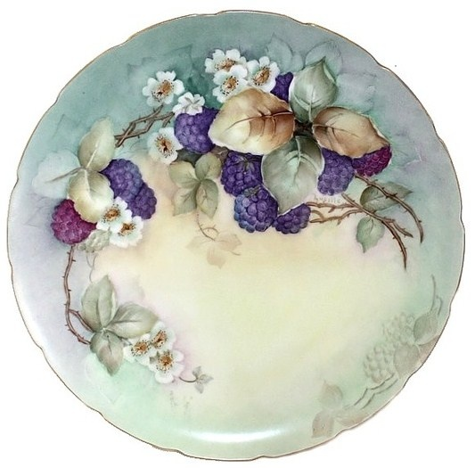 china plate...My brother-in-law, and also my art teacher hand painted china plates like this....they both taught this also.
