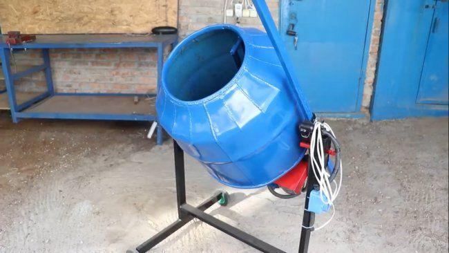 бетоносмеситель своими руками видео на 250 литров
