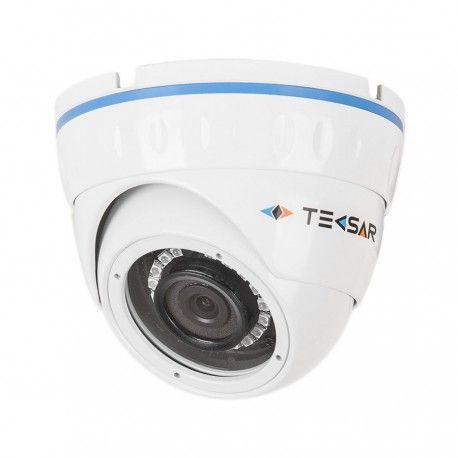 """Купольная видеокамера для наблюдения в металлическом корпусе. Технологии: AHD, аналоговая. Матрица: 1/3"""" Sony IMX225. Разрешение: 1280x960 пикс. (AHD-M), 1000 ТВЛ (в режиме аналога). Фокусное расстояние: 2,8/3,6 мм. Дальность ИК подсветки: до 20 метров. Функциональные возможности: AE, AWB, AF, 3DNR, FRC, D-Zoom, FLK, HLC/BLC. Индекс защиты IP66."""
