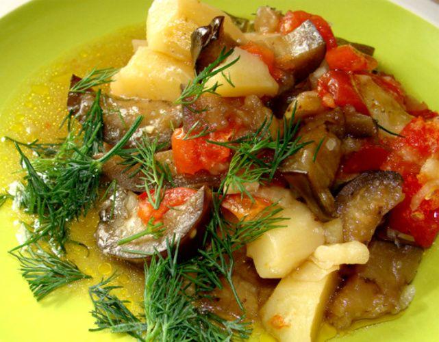 Вкусные овощи запеченные в духовке. Кулинарный рецепт с фото