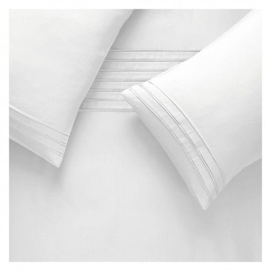 PINTUCK White Egyptian cotton kingsize duvet cover set