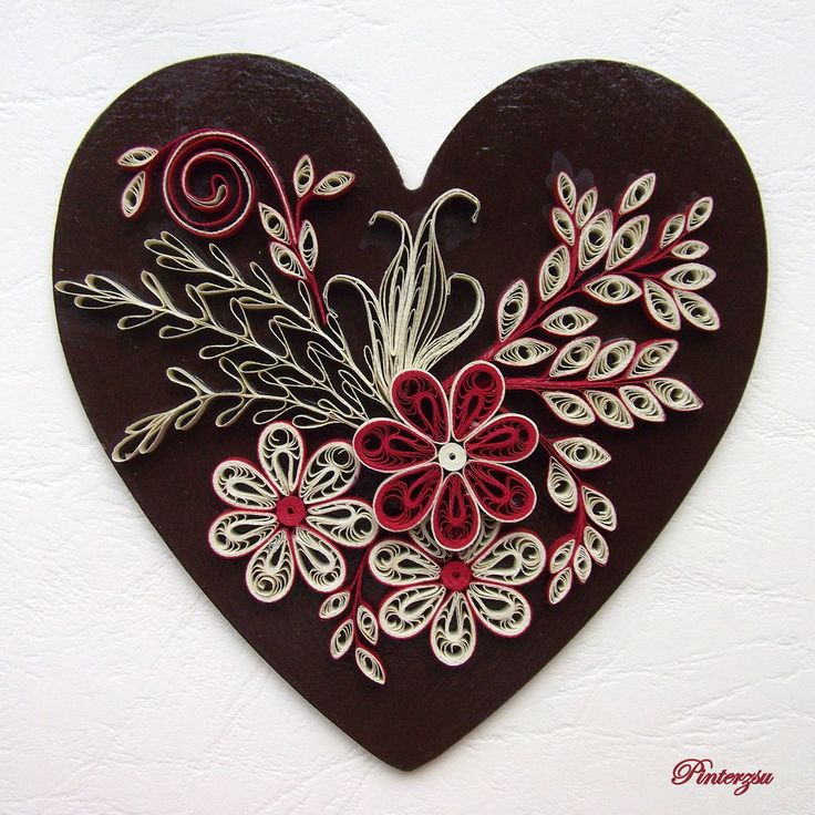 211 best quilling hearts images on pinterest paper for Quilling heart designs